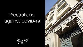 Precautions against COVID-19 at Vandoren (Turkish)