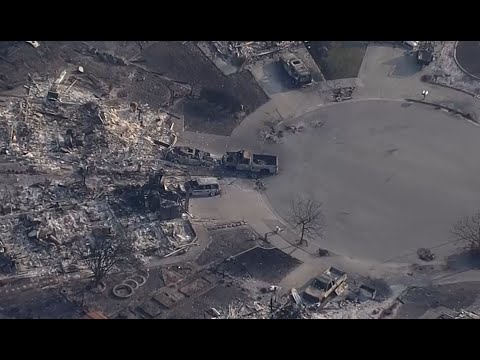 SONOMA COUNTY NEIGHBORHOOD DESTROYED:  Raw Tuesday helicopter video of devastated Napa neighborhood