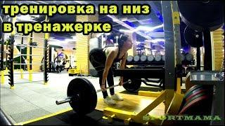 Силовая тренировка на низ в тренажерном зале Упражнения поочередно Для девушек женщин