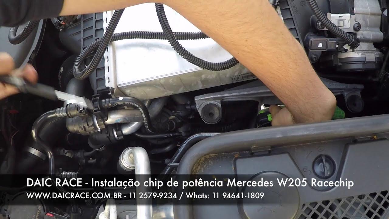 Daic Race - Racechip Chiptuning Installation Mercedes-Benz W205 C180 C200  C250 En (11) 94641-1809  Racechip Brasil 05:25 HD