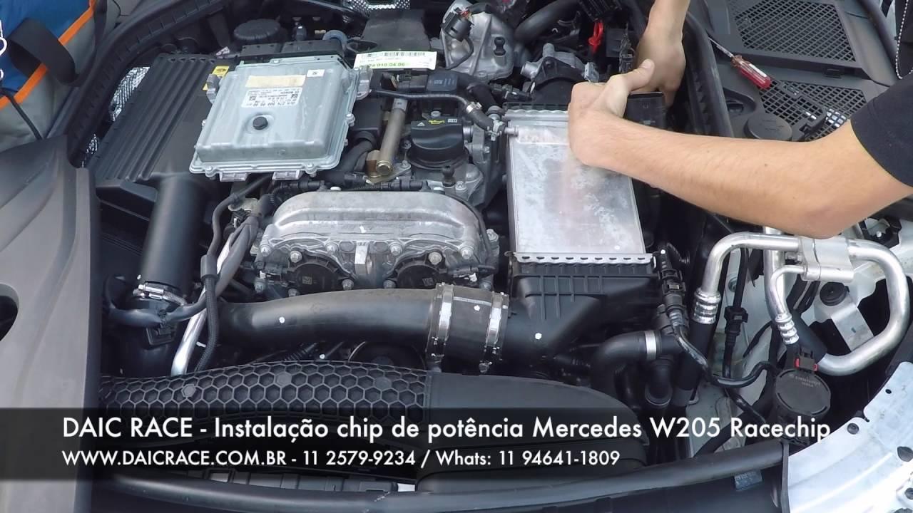 DAIC RACE - RaceChip Chiptuning Installation Mercedes-Benz W205 C180 C200  C250 EN (11) 94641-1809