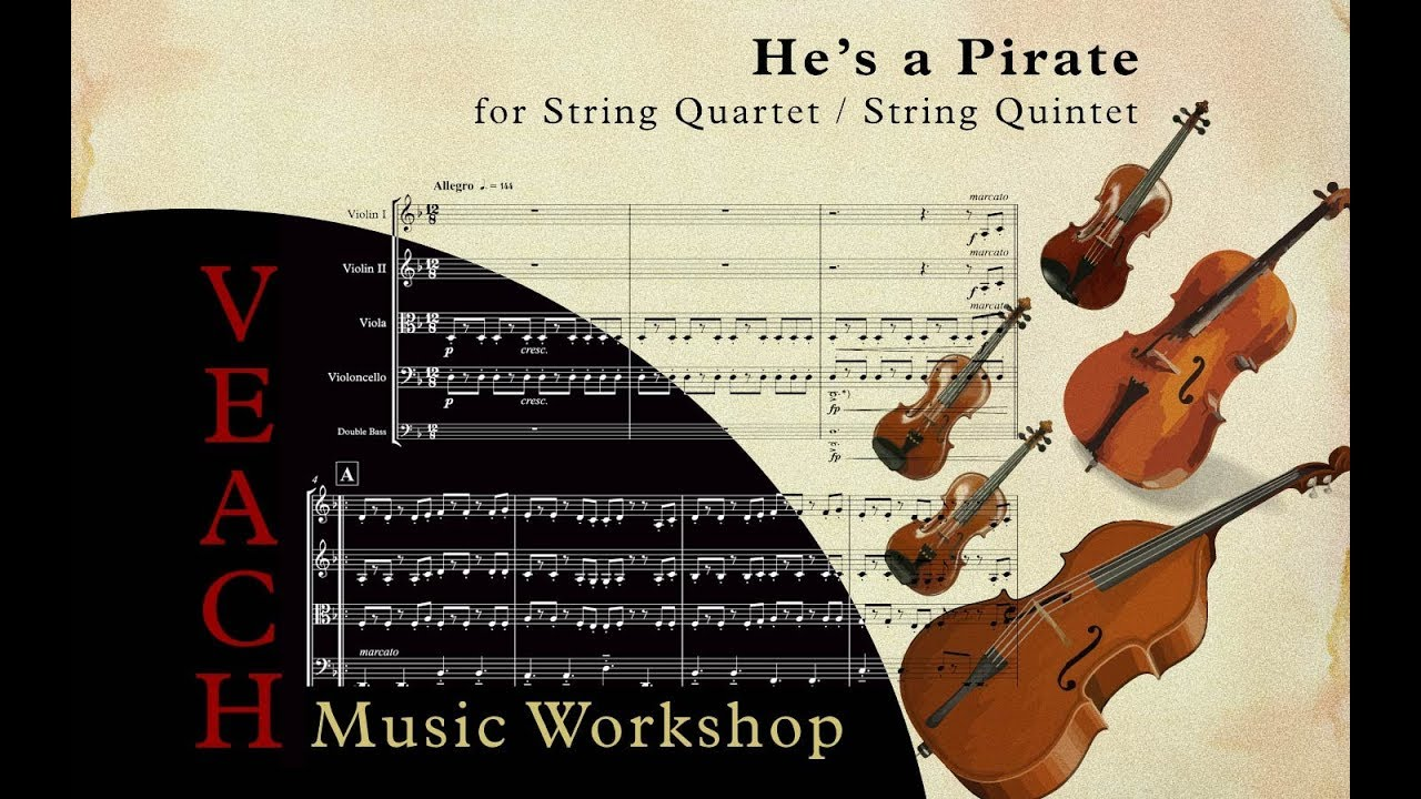 He's a Pirate - String Quintet Arrangement (with Sheet Music)