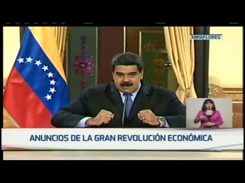 Nicolás Maduro hace anuncios en materia económica 17/08/2018