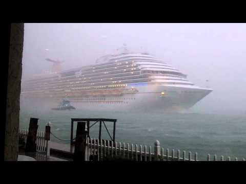 Carnival Dream leaving Port Canaveral in storm