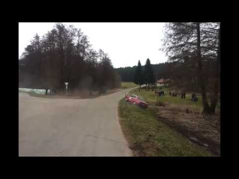 Deutsche Rally Meisterschaft Crash accident