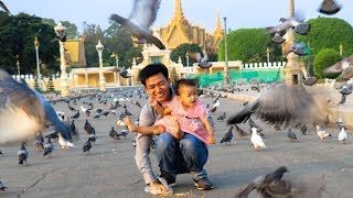 Feeding Doves at Royal Palace