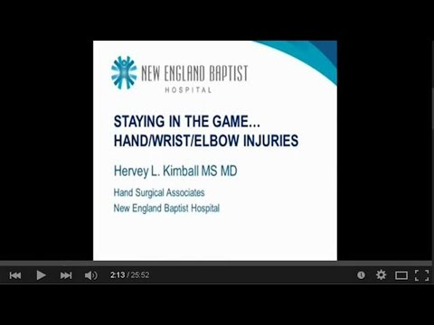 Staying in the Game After Hand, Wrist & Elbow Injury