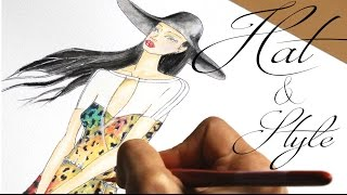 Fashion Illustration - Jumpsuit   Hat & Style