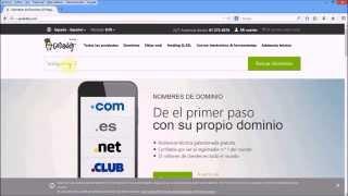 Comprar dominio y hosting en GoDaddy
