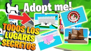 ALL SECRET PLACES IN ADOPT ME ROBLOX! 😱 AMAZING