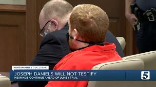 Joe Clyde Daniels case: Attorney says Joseph Daniels likely won't testify at trial