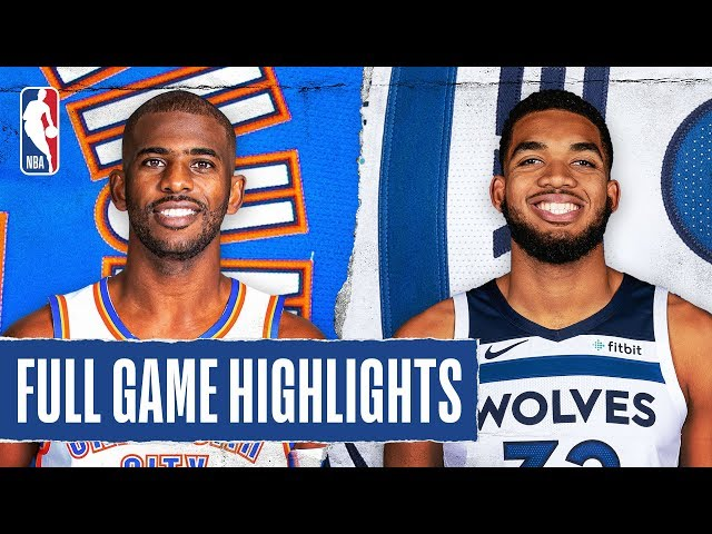 THUNDER at TIMBERWOLVES | FULL GAME HIGHLIGHTS | January 25, 2020