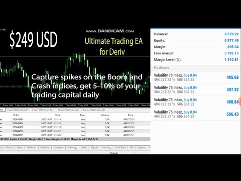 Ultimate Robot for MT5, automatic trading and spike detector for Boom and Crash indices (EA)