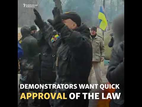 Clashes In Kyiv As Key Bill Enters Parliament