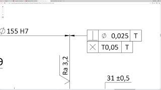 Solidworks. Урок 17.1 ОТКЛОНЕНИЯ ФОРМЫ и РАСПОЛОЖЕНИЯ ПОВЕРХНОСТЕЙ  - создание чертежа