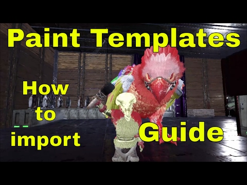 how to import ark paint templates into ark playark