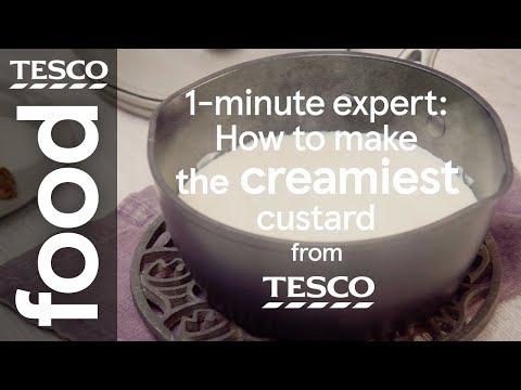 1-minute expert: How to make custard | Tesco Food