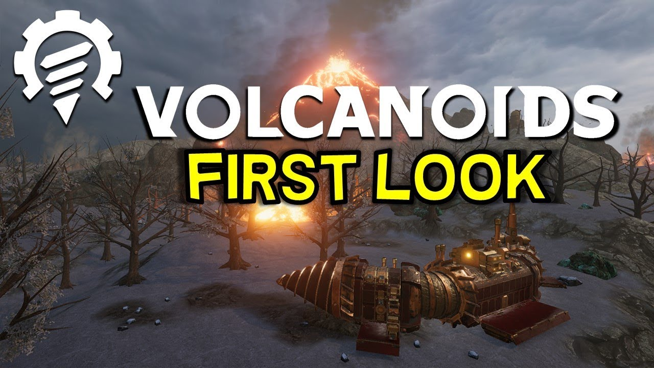 Volcanoids Steam Punk Drill Ship Killer Robot Survival Sim First Look