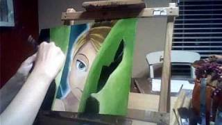 Painting of Tinkerbell- Happy Birthday, Sydney!