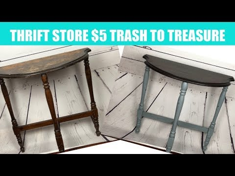 DIY Thrift Store End Table Trash to treasure with Drea