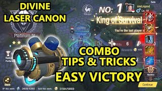 Survival Heroes - Divine Laser Canon Tips And Trick EASY WIN (oneLegend)