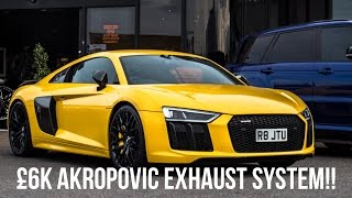 NEW Audi R8 V10 Plus w/ £6K Akropovic Exhaust System!! LOUD REVS AND DRIVE!!