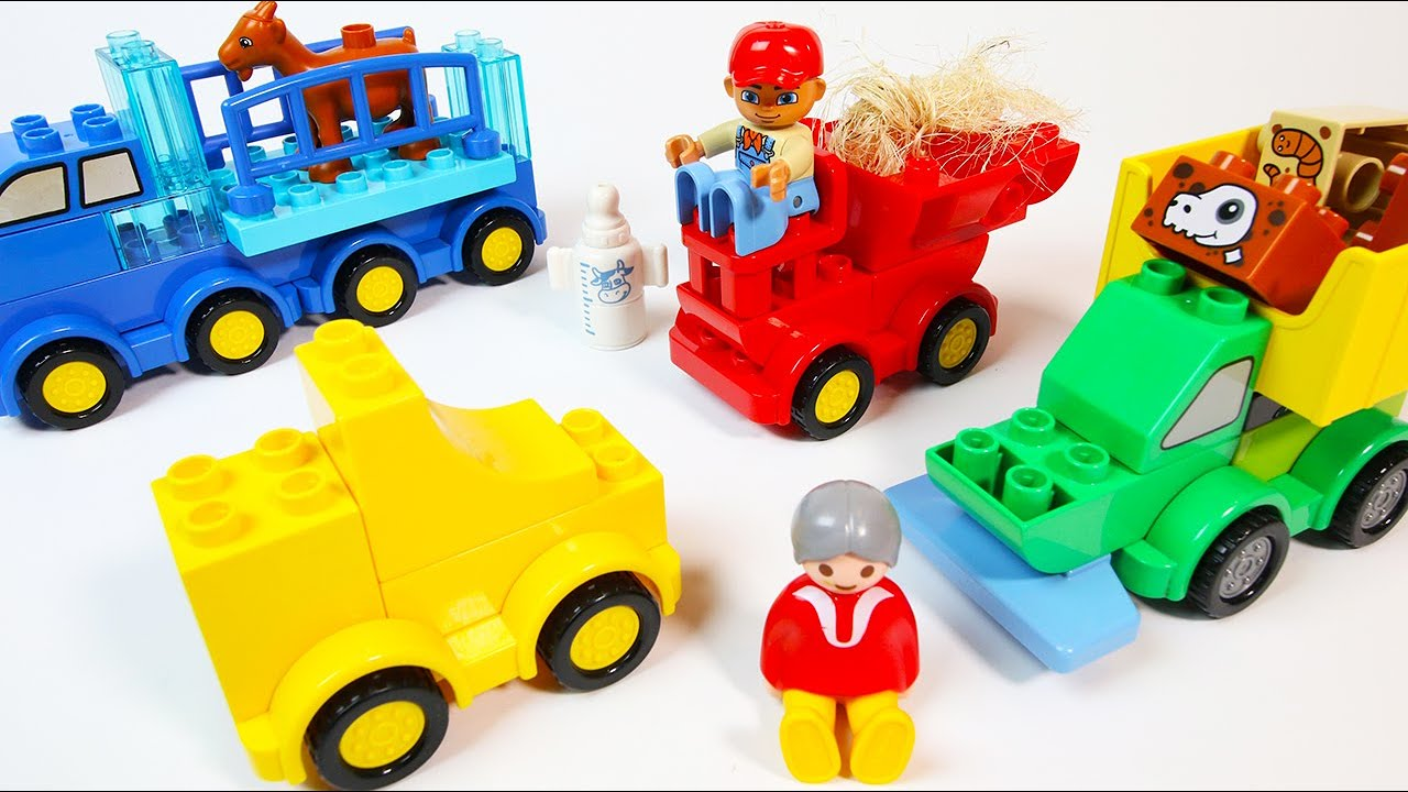 Building Farm Trucks and Tractors with Duplo Blocks