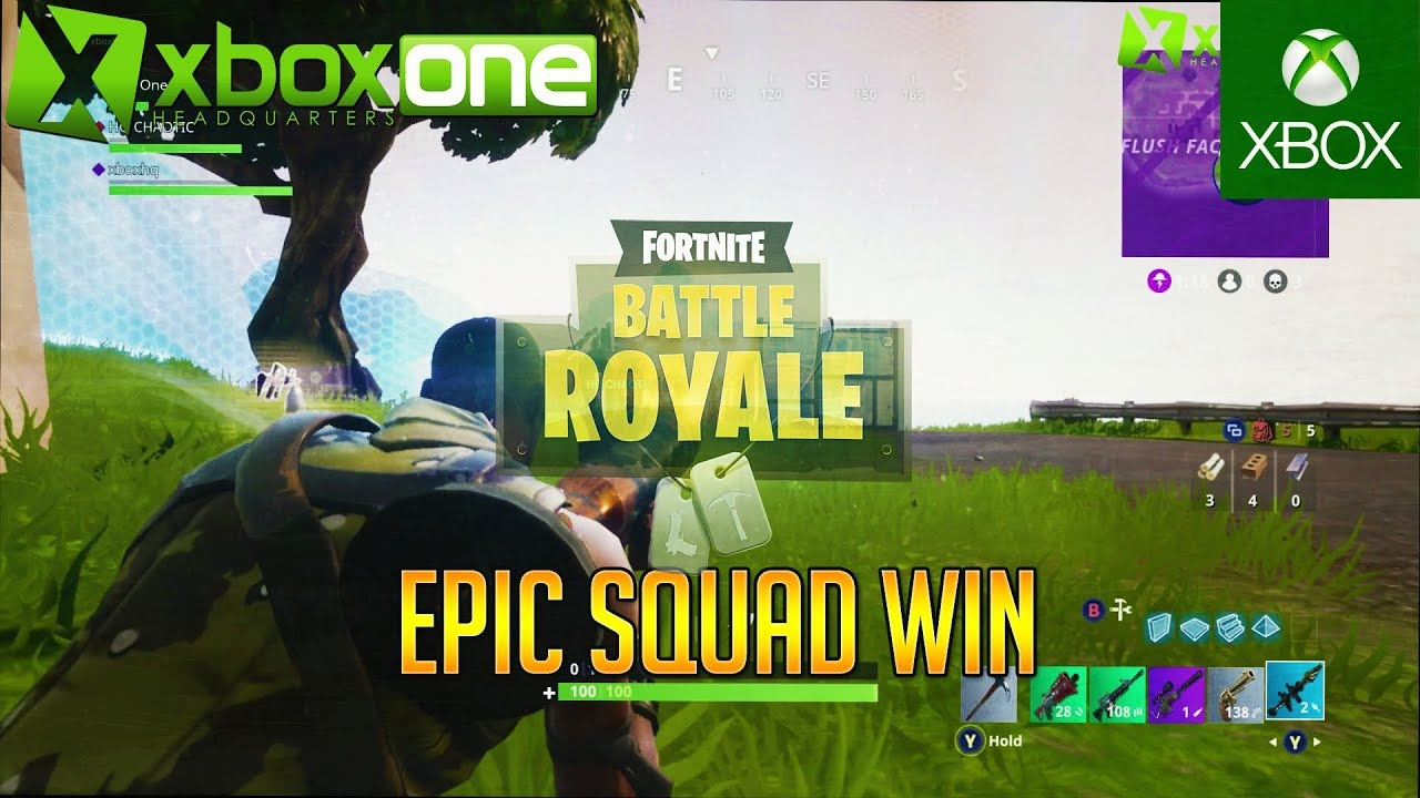 Fortnite Battle Royale Epic Squad Win Full Match Gameplay Hd P Fps