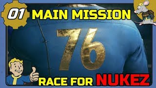 FALLOUT 76 Race For Nukez - Main Story Gameplay Live #1