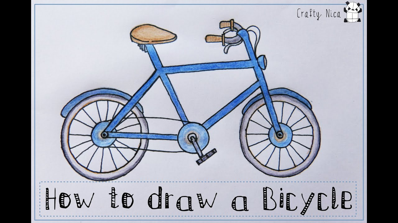 It is a picture of Sassy Bike Drawing Simple