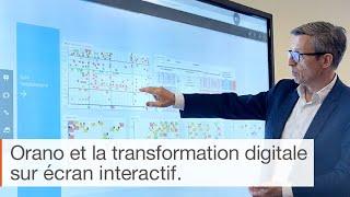 Témoignage sur l'utilisation de l'écran interactif pour la transformation numérique : le cas Orano