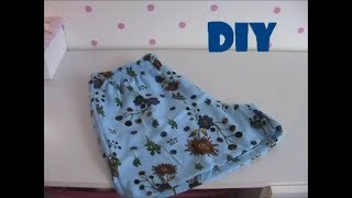 Short soltinho adulto com molde DIY