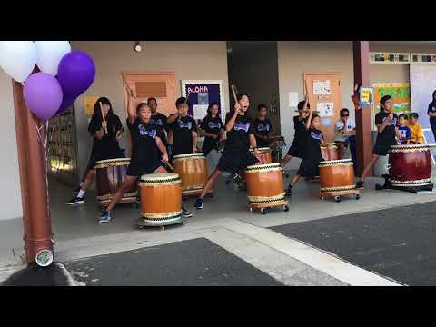 Hongwanji Mission School select taiko 2017 second performance