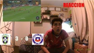 REACCION  BRASIL 3 VS CHILE 0 - SIN MUNDIAL ;(