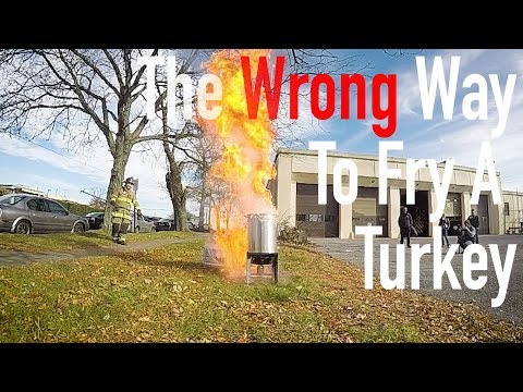 The wrong way to fry a turkey, with Fire Chief Brian Enterline