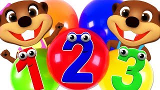 Kinder erlernen die Farben & das 123 mit Ballons & Spielknetmasse