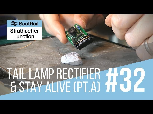 #32 Part A: Installing a Flashing Tail Lamp/EOT Light (Making a Rectifier & Stay-Alive Circuit)