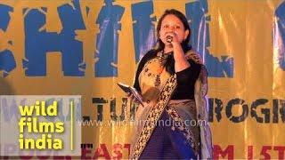 Sarita Gazmer sings at Sikkim Winter Carnival