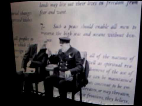 Roosevelt and Churchill 1st meet as world leaders in secret re: Atlantic Treaty