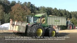 Biogas Ernte und Funktionsweise einer 1,5Mw Biogasanlage