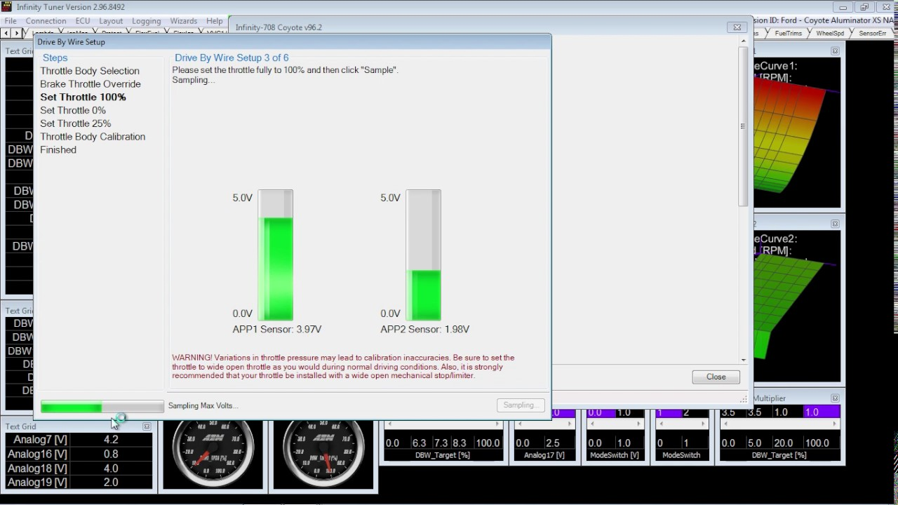 small resolution of part 1 aem infinity dbw calibration ignition on engine off