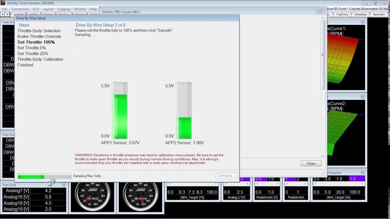 part 1 aem infinity dbw calibration ignition on engine off  [ 1280 x 720 Pixel ]
