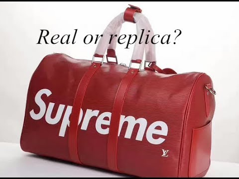 First Look Supreme X Lv Travel Bag Red Color Review