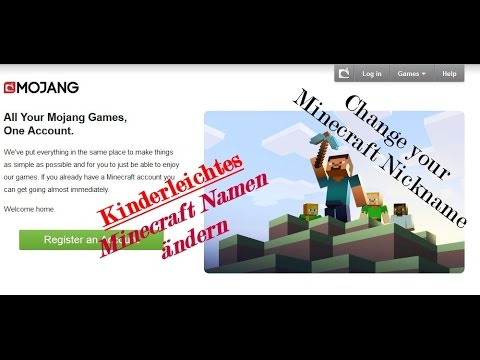 Minecraft Namen ändern Change Your Minecraft Profile Name In - Minecraft namen andern website