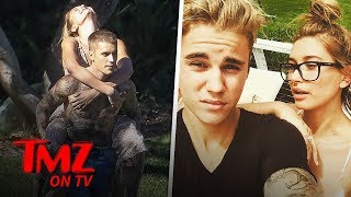 Justin Bieber Gives Wife Hailey a Shirtless Piggyback Ride! | TMZ TV
