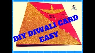 How to make Diwali greeting cards//Diwali card//Diwali card for competition //Diwali card making