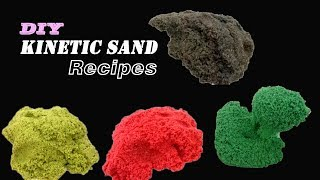 4 New Recipes Under 10 Minutes to make Kinetic Sand at Home - DIY Kinetic Sand Channel