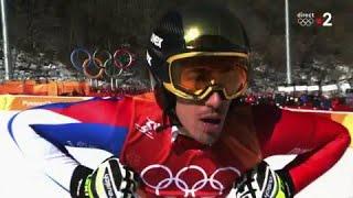 JO 2018 : Combiné alpin - Descente Hommes. Victor Muffat-Jeandet perd du temps sur les favoris