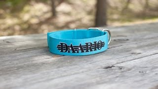Customizing your Dog's Collar with Siser EasyWeed and Brick