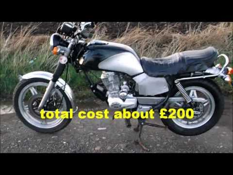 How to build a cheap road legal motorcycle in two weeks-Feb 2014